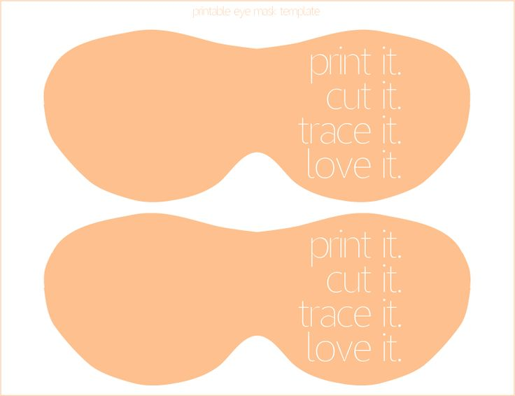 Group of Pin Eye Mask Template