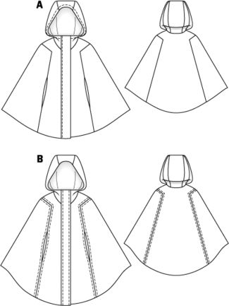 Hooded cape pattern