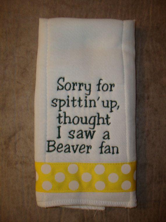 Hahahahaha perfect :-) Ducks Burp Cloth by CoughlinCrafts on Etsy, $12.99