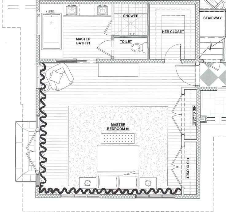 Master Bedroom Suite Floor Plans