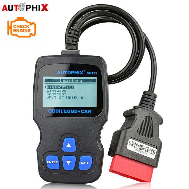Autophix OM123 OBD2 EOBD CAN קוד Reader מנוע מנתח מנוע כף יד סורק רכב כלי סריקה אוטומטית פורטוגזית רוסית