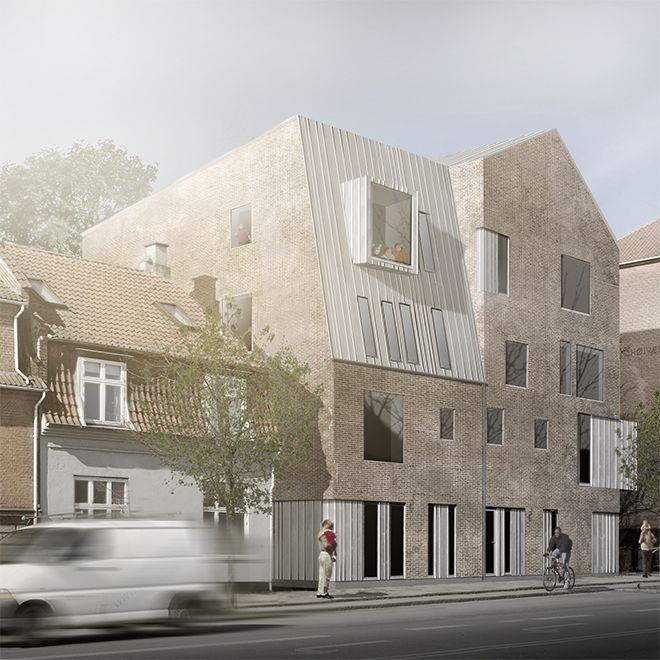CORNELIUS + VÖGE APS atelier for arkitektur  Daginstitution Brønshøj   Indbudt konkurrence, 1. præmie