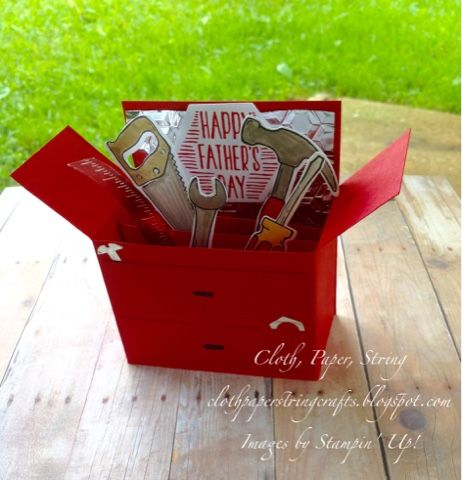 Father's Day card Stampin' Up! Nailed It toolbox