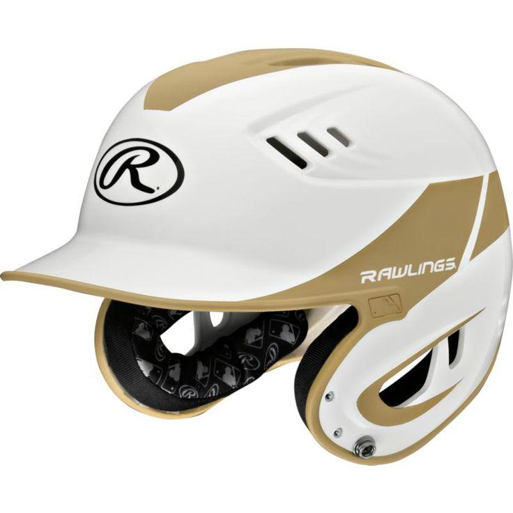 Rawlings Senior Velo R16 Batting Helmet, Vegas Gold