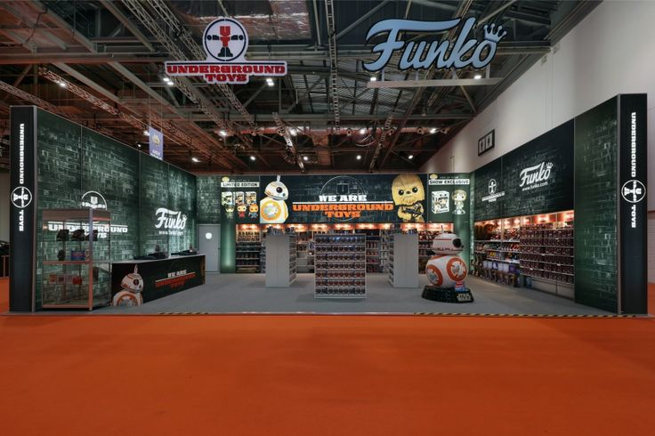 Exhibition stand for Underground Toys at MCM London Comic Con