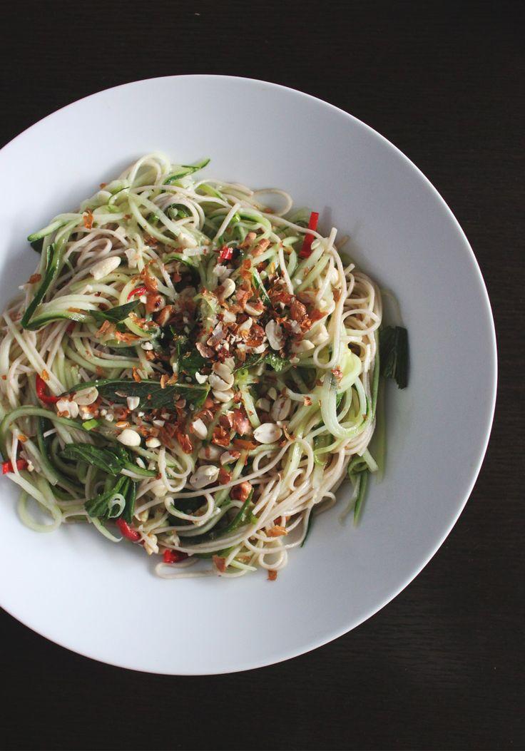 Vietnamese cucumber and soba noodle salad / Acqua Design Studio / acquadesignstudio.com.au