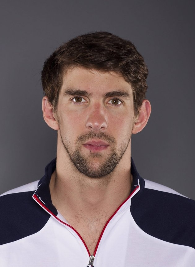 Swimmer Michael Phelps poses for a portrait during the 2012 U.S. Olympic Team Media Summit in Dallas, Texas