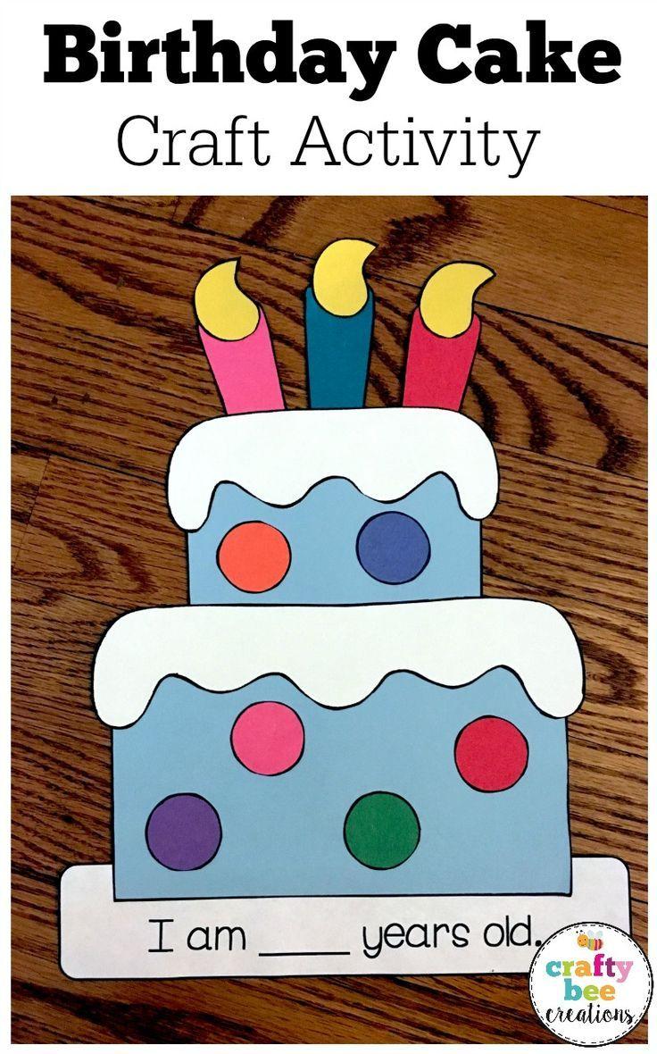 Birthday Cake Craft | Birthdays | Cake craft, Construction paper