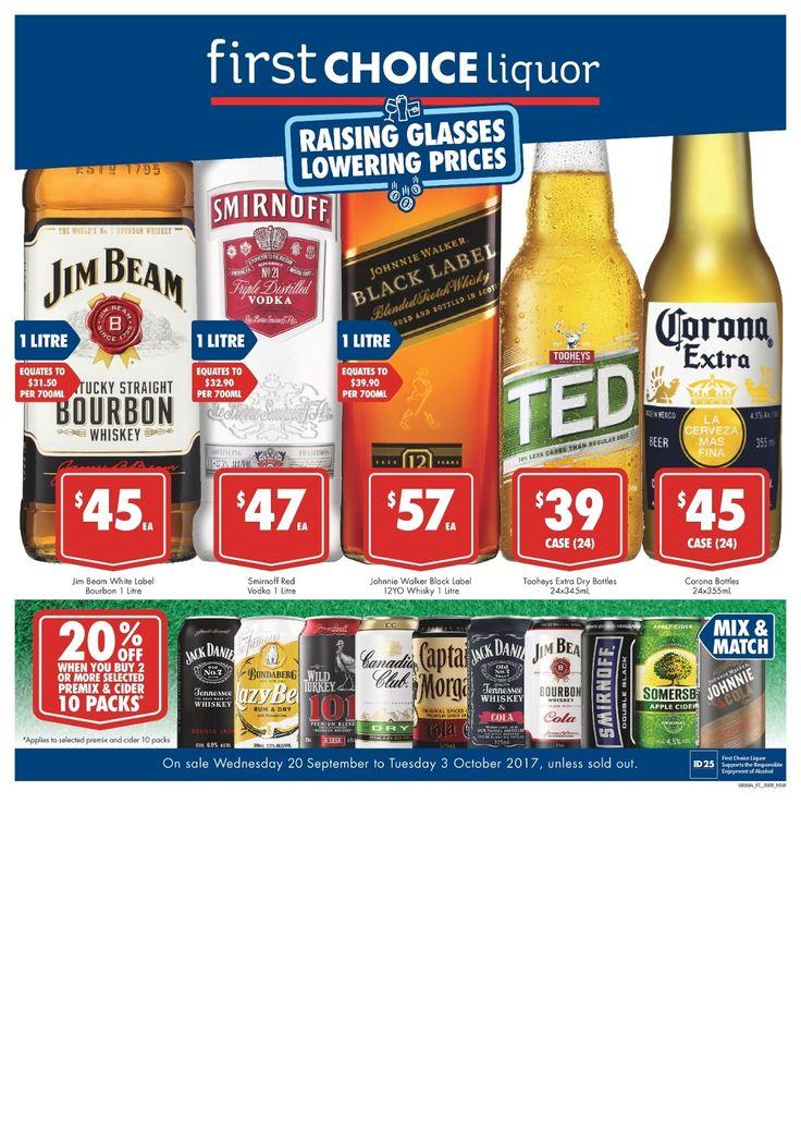 First Choice Liquor specials 20 September - 3 October 2017 - http://olcatalogue.com/fcl/first-choice-liquor.html