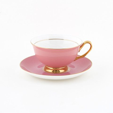 #Pink #250mL #Teacup and #Saucer #Set | The #elegant, #stylish #teacup. #Mix'n'match with our other #colours! Get #inspired at #lyndalt.com
