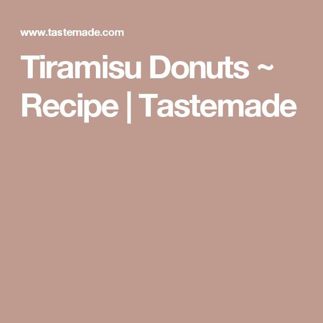 Tiramisu Donuts ~ Recipe | Tastemade