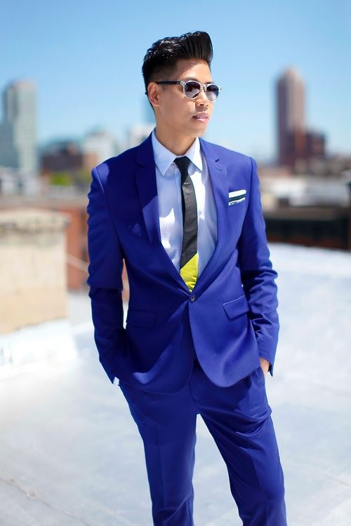 82 best Lookbook | Men's Blue Suits images on Pinterest | Menswear ...