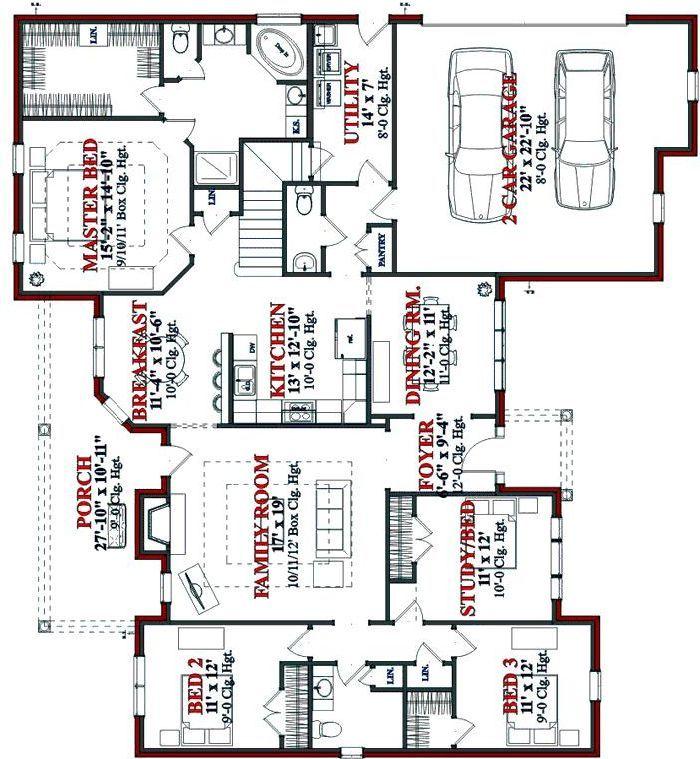Planos De Casas De 1 Piso | Planos de Casas