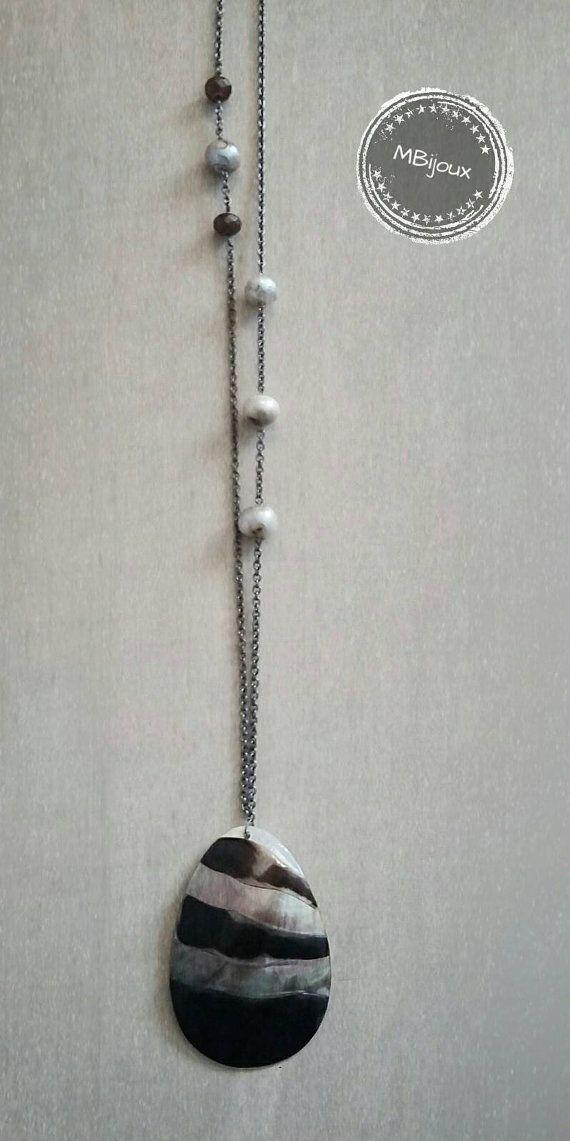 Guarda questo articolo nel mio negozio Etsy https://www.etsy.com/listing/279484402/collana-lunga-cm-64-con-pendente-maxi-in