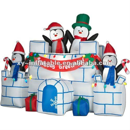 8 Airblown Inflatable Santa Penguin Coffee Shop Igloo: 8 Best GEMMY Rudolph The Red-Nosed Reindeer Images On