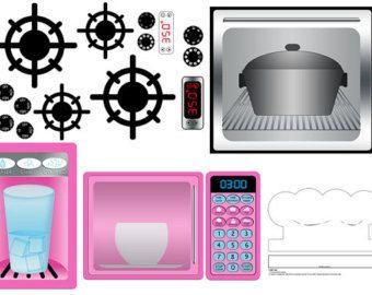 DESCARGAR DIGITAL juego cocina para imprimir por Printatoy en Etsy