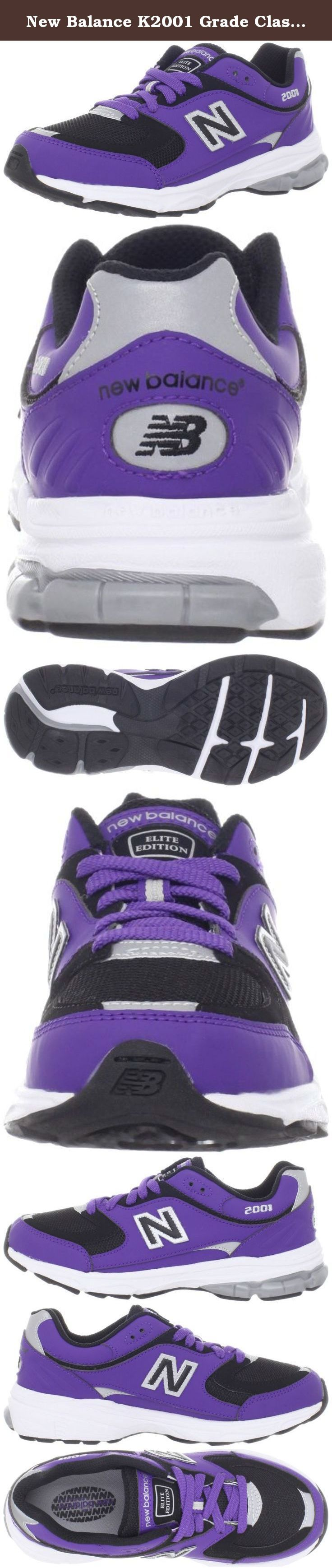 New Balance K2001 Grade Classic Running Shoe (Little Kid/Big Kid),Purple,7 M US Big kid. New Balance Youth K2001 Running Shoe Features: Synthetic upper with mesh toe box for breathability. Foam-padded collar and tongue. Breathable mesh lining and cushioned footbed for comfort and added shock absorption. Traditional lacing for a secure fit. Injection-molded EVA midsole for cushion with each step. Rubber outsole and heel cup for durability and response with each step. Imported…