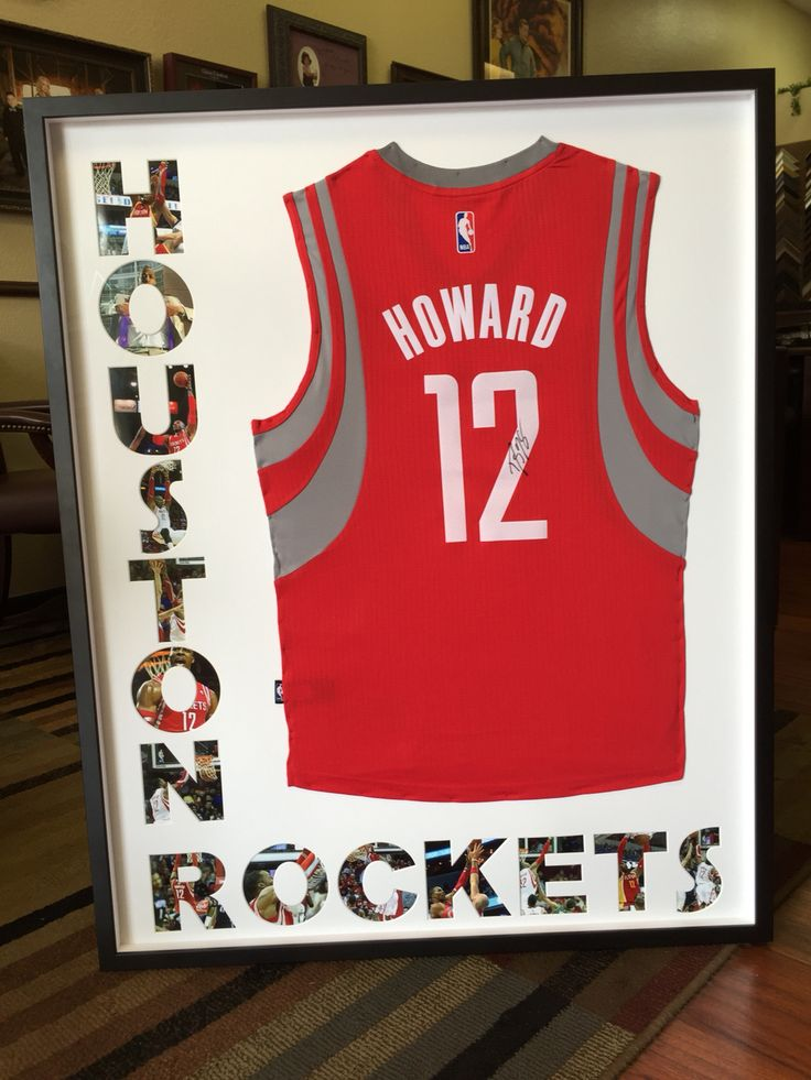 houston rockets dwight howard jersey custom framed