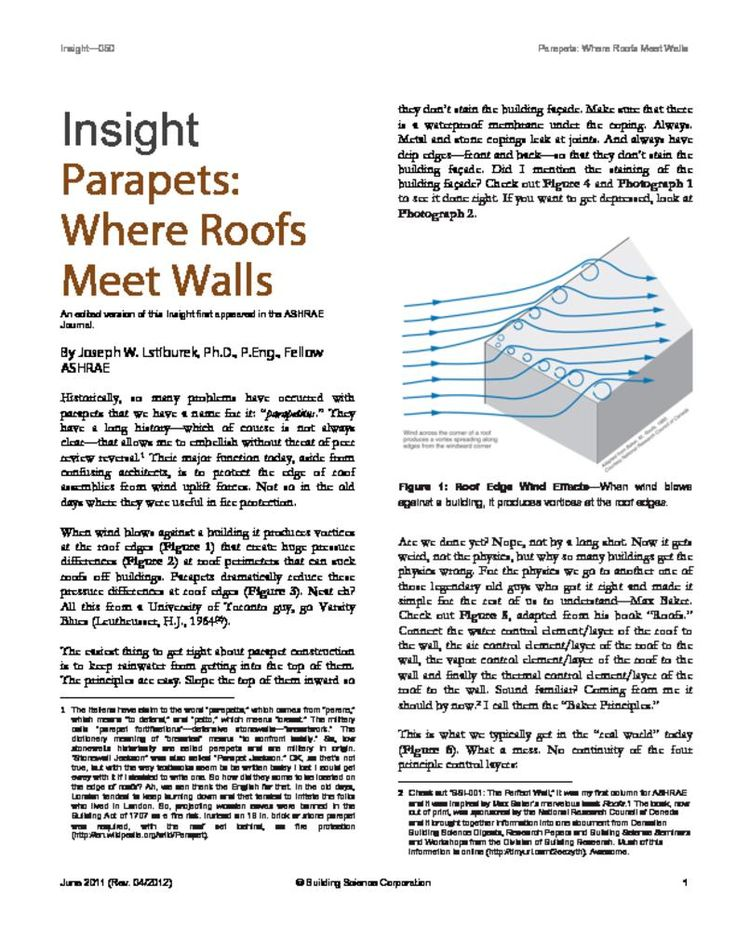 Parapets – Where Roofs Meet Walls | Building Science