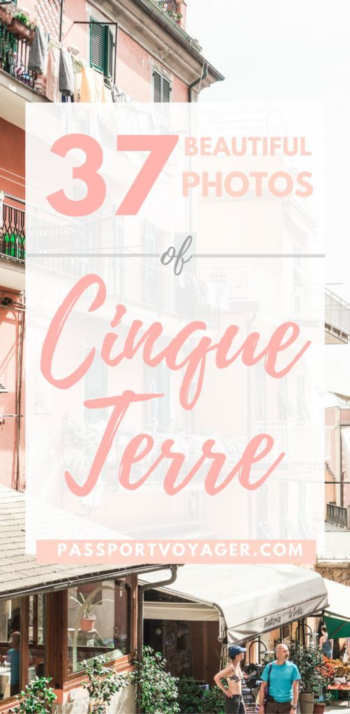 35 gorgeous photos of Italy's coastal gem, Cinque Terre to inspire your wanderlust and make you bump Cinque Terre up your bucketlist for 2018! #italy #cinqueterre #photos #travel #europe #bucketlist