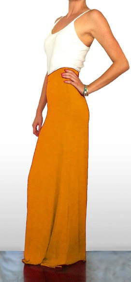 Light Orange Maxi Skirt