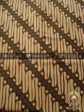 Kain Batik Solo Motif Parang Srimpi Sogan | Indonesian Batik Fabric Pattern Design http://thebatik.co.id/kain-batik-bahan/