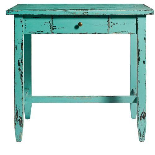 Mueble decapado escritorio vintage azul 76x80x50 cm de - Muebles a 1 euro ...
