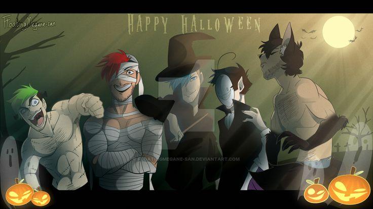 Youtubers Halloween Special by FloatingMegane-san on DeviantArt