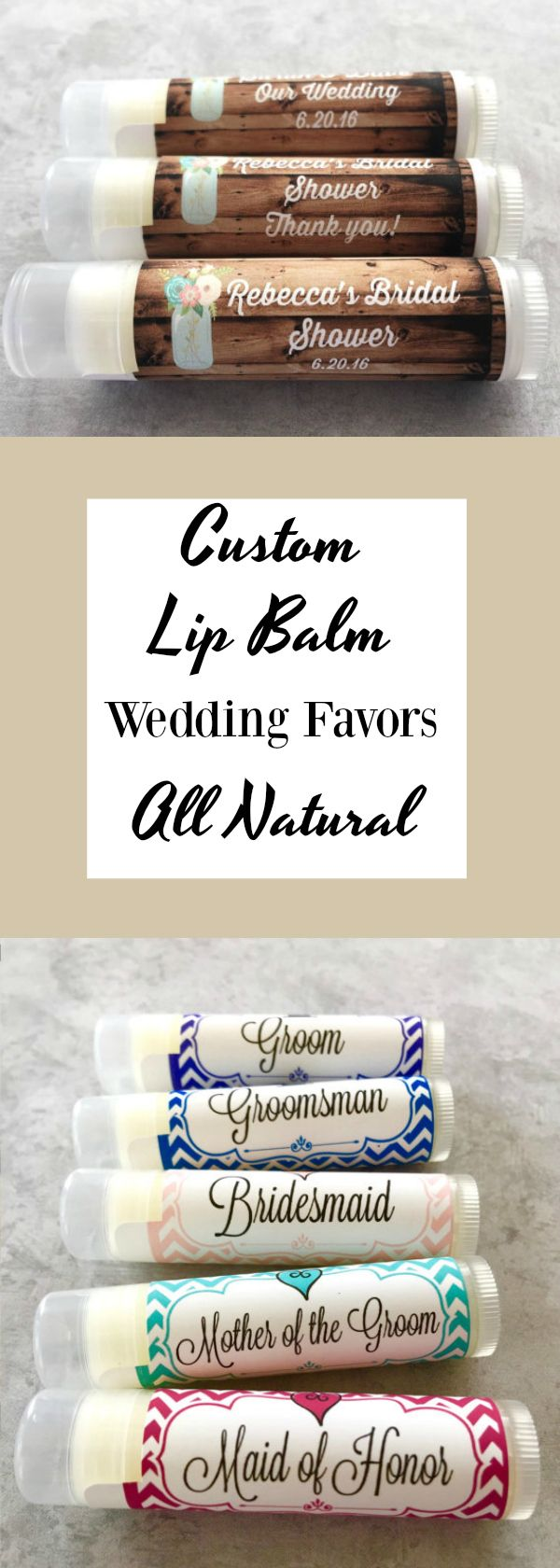 Fancy Personalized Lip Balm Wedding Favors Ornament - The Wedding ...
