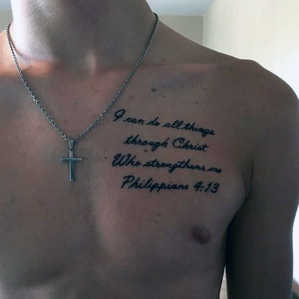 40 Philippians 4:13 Tattoo Designs For Men - Bible Verse ...