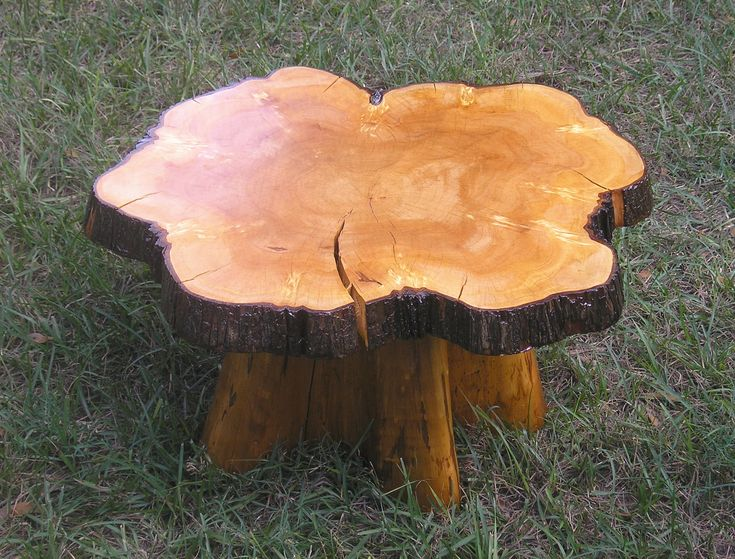 Rustic Furniture Rustic Cypress Stump Table Picture