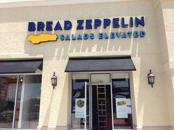 """Bread Zeppelin"" - Punny restaurant names"