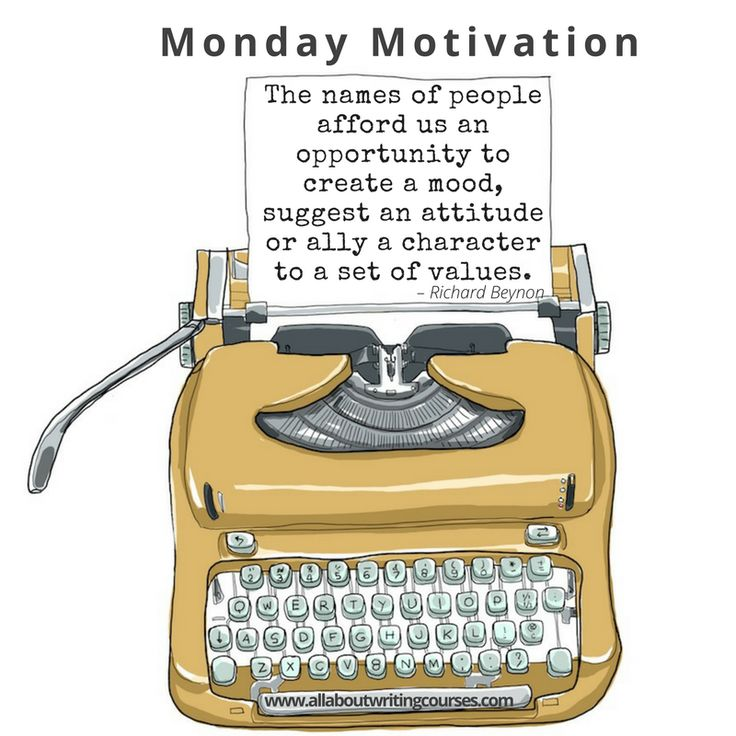 Monday Motivation: Names to conjure with