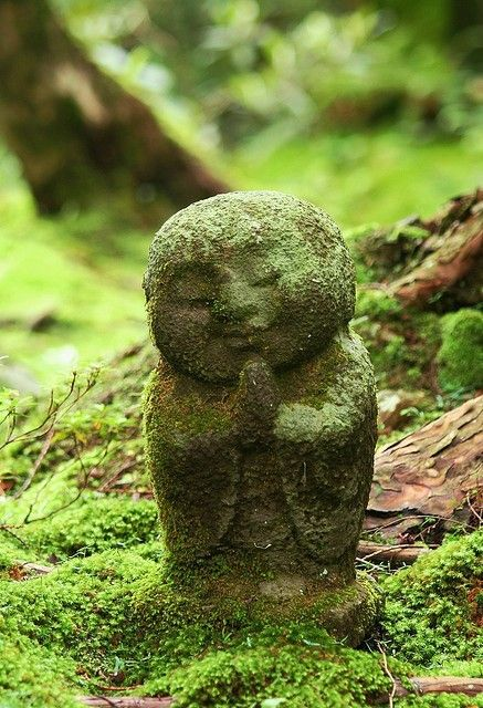 little garden buddha...possibly the sweetiest little thing I've ever seen for a garden!