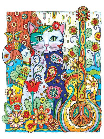 61 best Creative Cats Coloring Book Completed Pages Inspiration ...