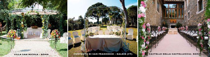 Romantica in giardino, ricca di fascino sulla spiaggia, incantevole in monasteri e castelli, la cerimonia all'aperto (detta anche matrimonio all'americana)