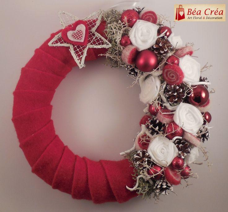 couronne de Bienvenue pour Noël (Porte) : Accessoires de maison par bea-crea