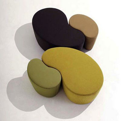 bonaldo cube modern pouf or ottoman and tray by kaori shiina stardust modern design act. Black Bedroom Furniture Sets. Home Design Ideas