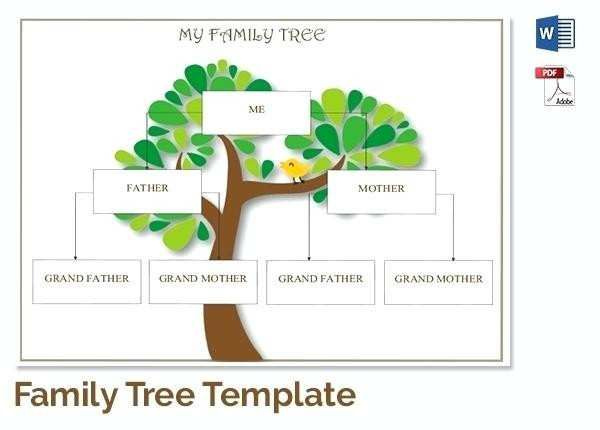 Family Tree Template Free Printable Word Excel In Editable