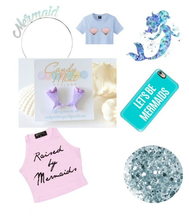 mermaid by tiffany-facebook on Polyvore featuring polyvore fashion style Casetify Crown and Glory Deborah Lippmann Disney clothing