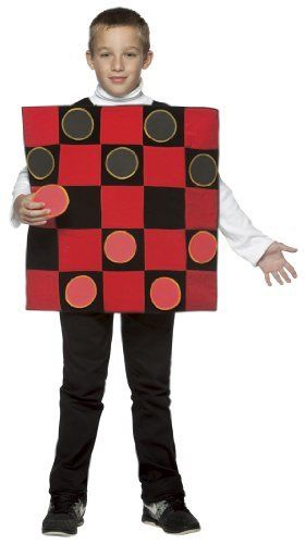 """What """"Z"""" wants to be for Halloween too funny!  Checker Board Halloween Costume - Child Size 7-10 by Rasta Imposta. $5.60. polyester. Recommended Age: 5 - 7 years. Have fun this Halloween and dress up as a classic board game, Checkers. The Checker Board Halloween Costume includes a tunic and fabric game pieces. Costume does not include shoes, pants or shirt.. Save 84%!"""