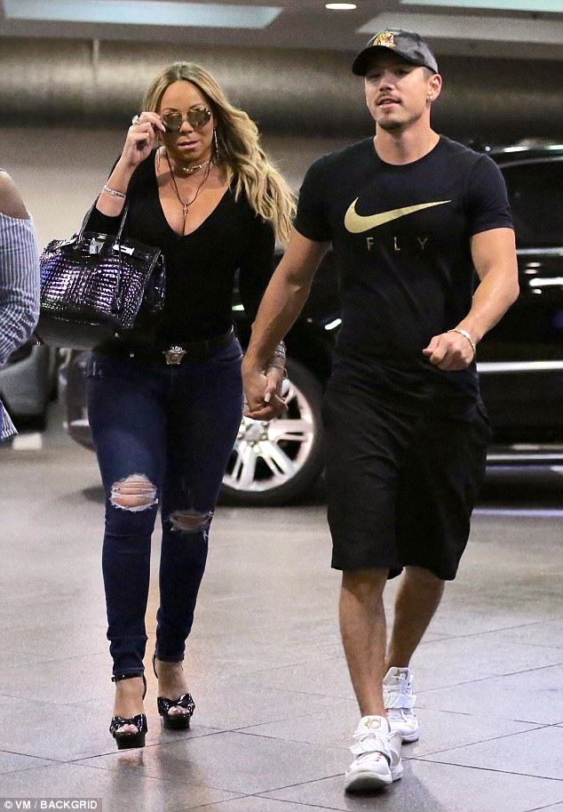 Date day: Mariah Carey and Bryan Tanaka enjoyed a loved up outing with her younger boyfriend Bryan Tanaka in Beverly Hills on Thursday