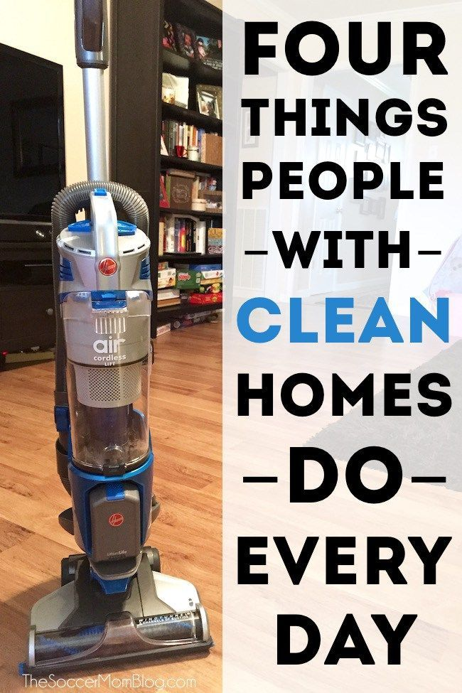 There are four easy things I do every day to make my house look clean in minutes -- try these clean home hacks to save time!
