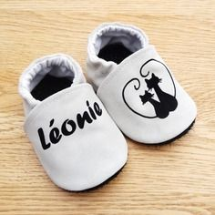Genuine Leather Customizable Baby Slippers and Non-slip Outsole with Cat