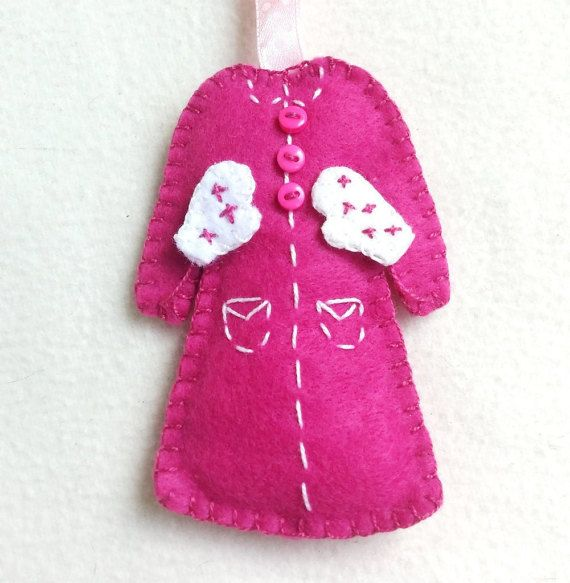 Coat felt ornament Christmas tree decoration by PrettyFeltThings
