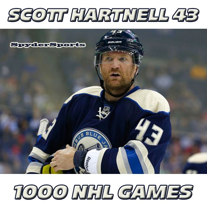Scott Hartnell Reaches 1,000 NHL Points | Spyder Sports Lounge