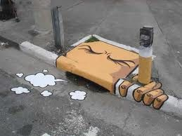 Why smoking is bad shown in street art.