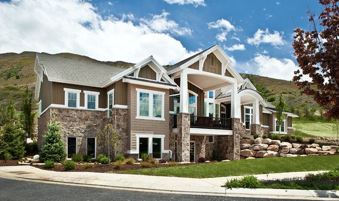 Lane myers construction elevation future home for House plans utah craftsman