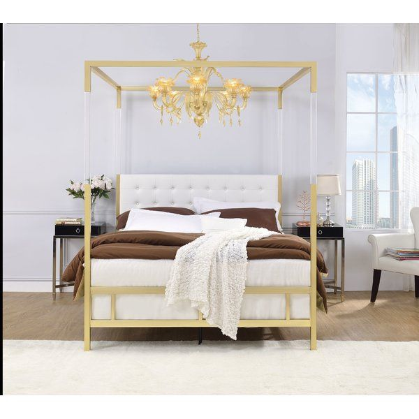 You Ll Love The Firkins Queen Upholstered Canopy Bed At Wayfair