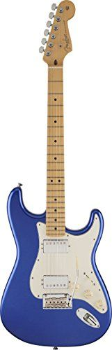 Fender American Standard Stratocaster Solid-Body Electric Guitar with Hard-Shell Case, Ocean Blue Metallic >>> Visit the image link more details.